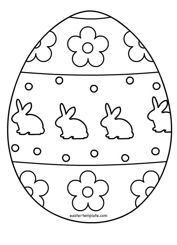 Easter Egg Outlines Templates – Happy Easter 2017