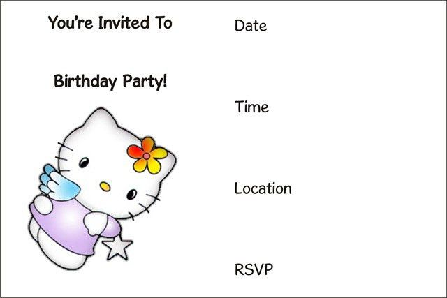Free Printable Birthday Invitations - Themesflip.Com