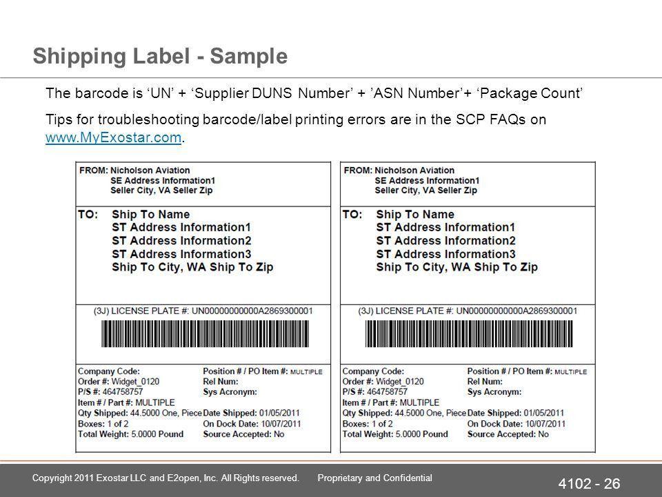 41-02: Advance Ship Notices Supply Chain Platform Training ...