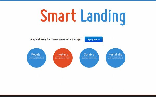 Simple Smart Landing Page | Bootstrap Landing Pages | WrapBootstrap
