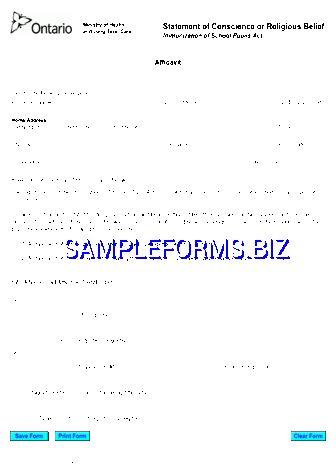 Ontario Affidavit Form templates & samples