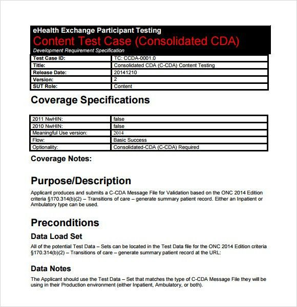 Test Case Template - 9+ Download Free Documents in PDF , Word , Excel