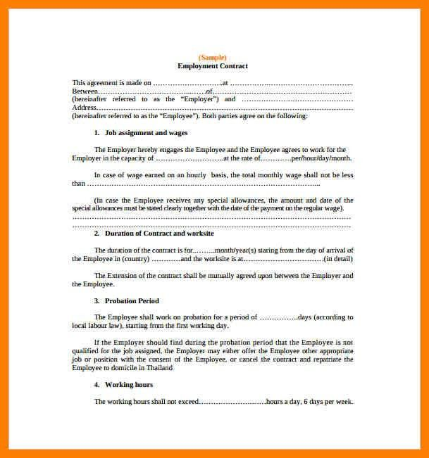 9+ contract agreement between two parties pdf | joblettered