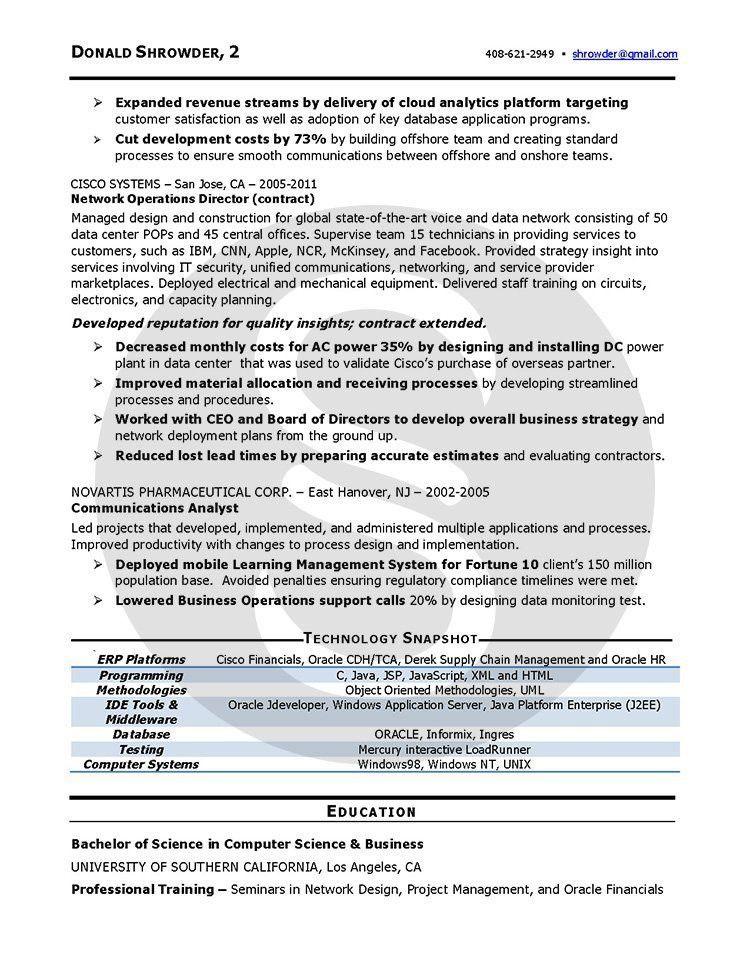 Professional resume Sample | Shimmering Careers