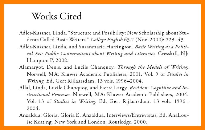 11+ works cited example page | hostess resume