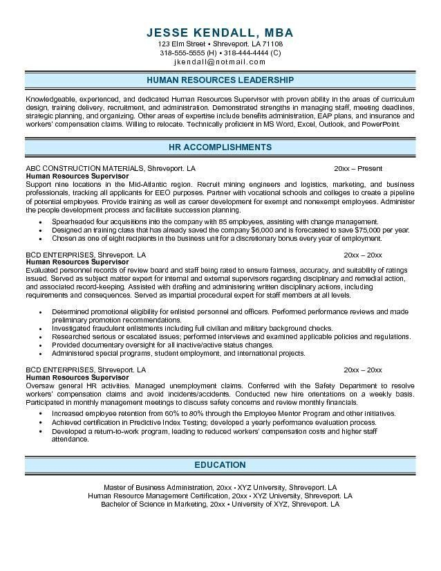 Hr Resume Examples. Examples Of Hr Resumes Basic Resume Template ...