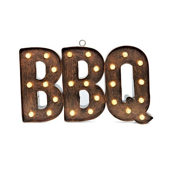 Better Homes and Gardens BBQ Marquee Sign Outdoor Letters LED ...