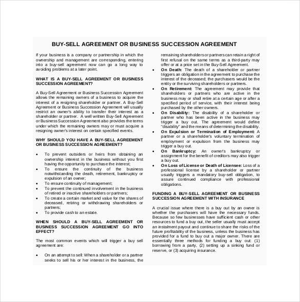 12+ Buy Sell Agreement Templates – Free Sample, Example, Format ...