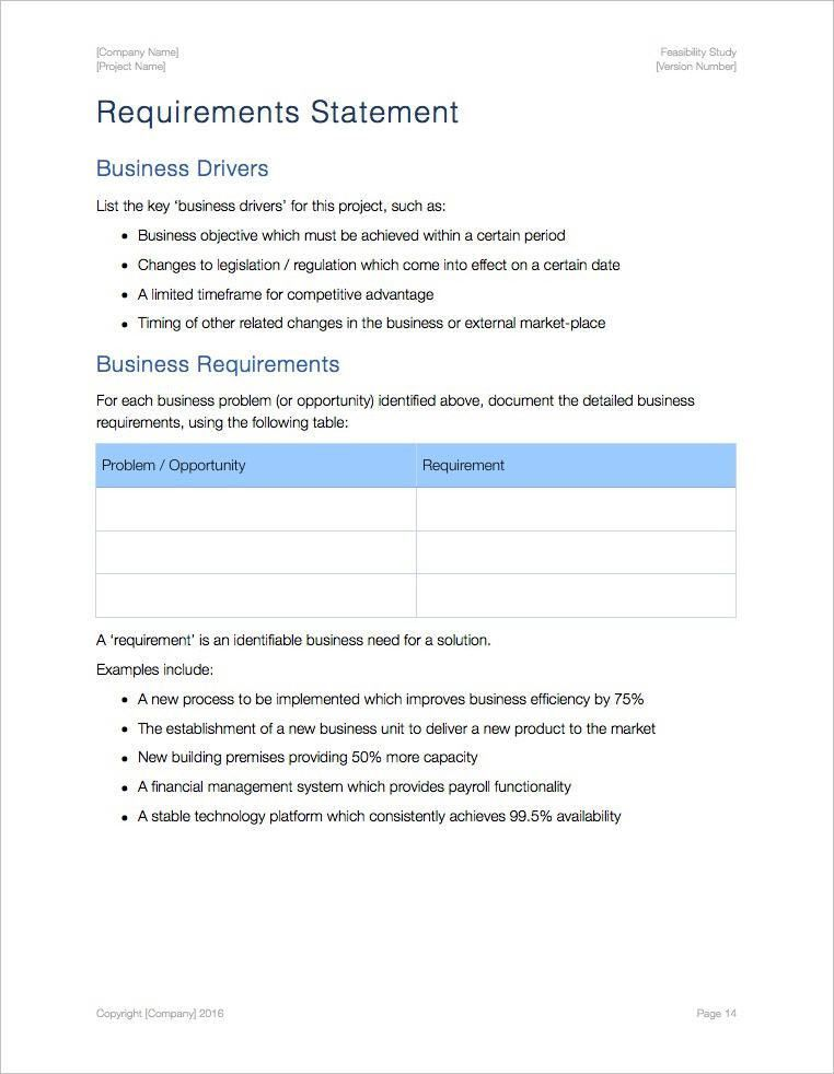 Feasibility Study Template (Apple iWork Pages)