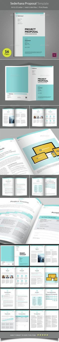 Minimal and Professional Proposal Brochure template for creative ...