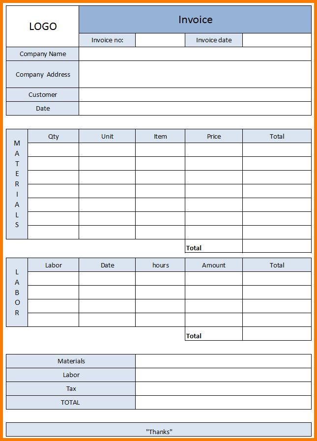 7+ Service Invoice | Receipt Templates
