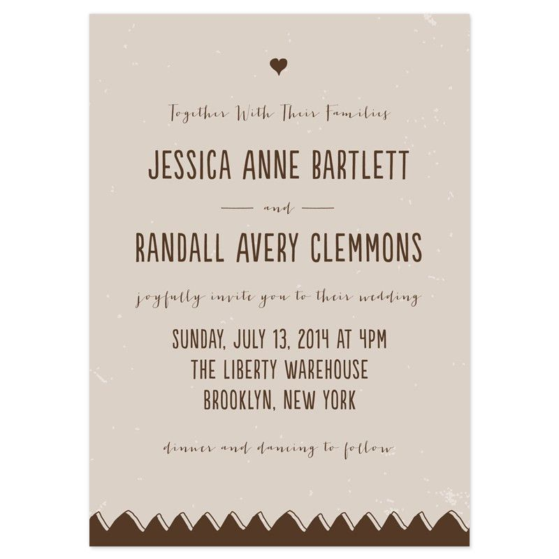 Drawn Together Wedding Invitations | Invitation wording, Wedding ...