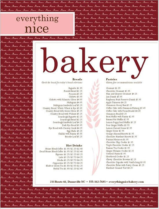 Bakery Menu Template – 25+ Free Word, PSD, PDF, EPS, InDesign ...