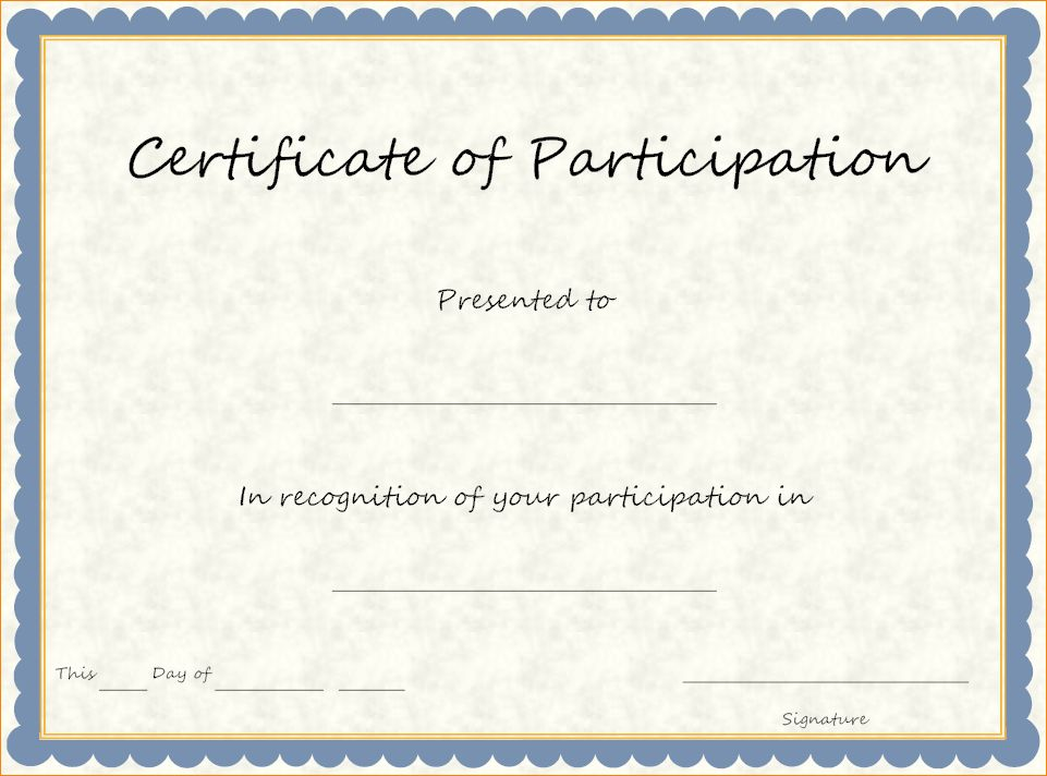 10+ certificate of participation template | academic resume template