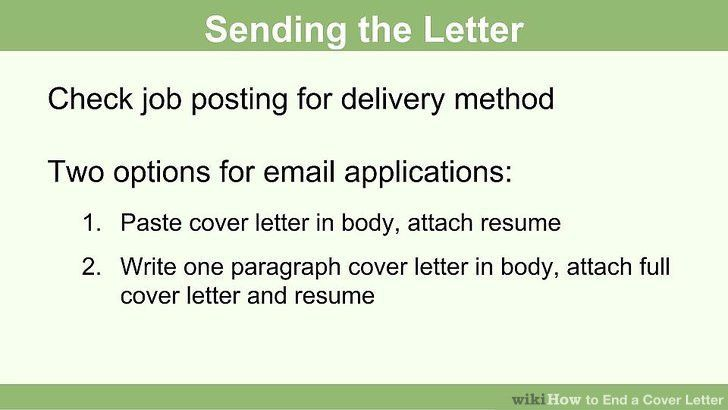 how to write a cover letter ending | Howsto.Co