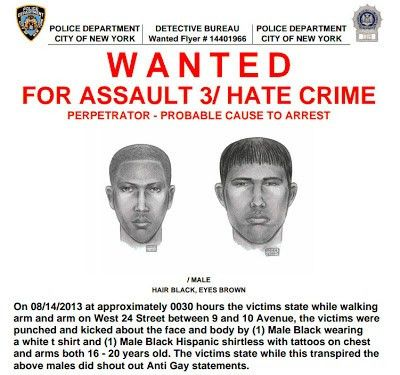Wanted Poster Issued For Recent NYC Hate Crime | Instinct