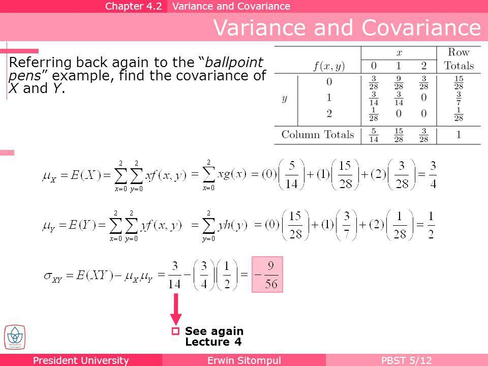 Variance and Covariance - ppt download