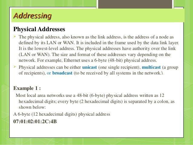 Osi , tcp/ip protocol and Addressing