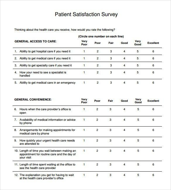 Lovely Sample Patient Satisfaction Survey   9+ Documents In PDF, Word Images