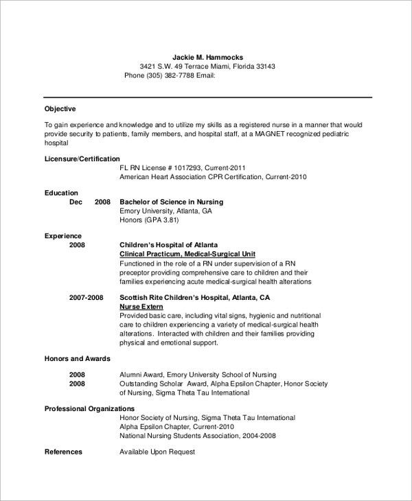 Resume Objective Example - 10+ Samples in Word, PDF