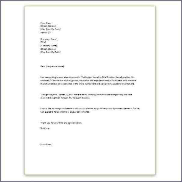 Download Simple Cover Letter For Resume | haadyaooverbayresort.com