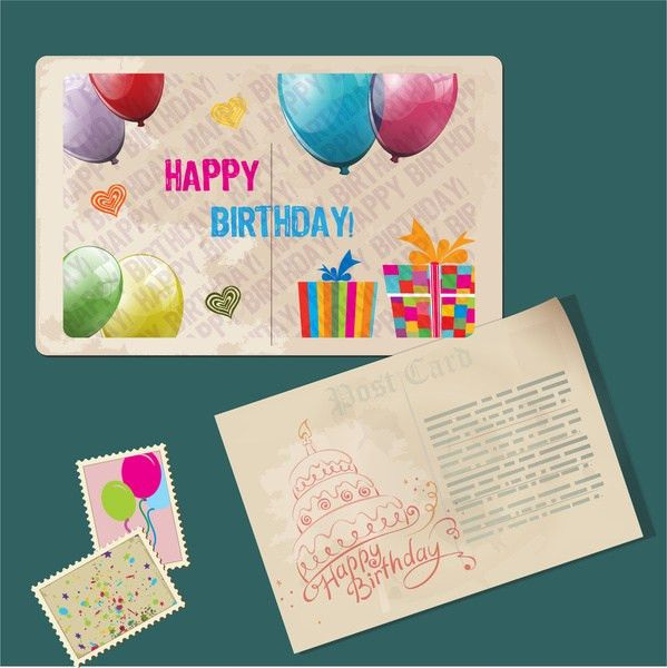 Happy birthday card template free vector download (23,827 Free ...