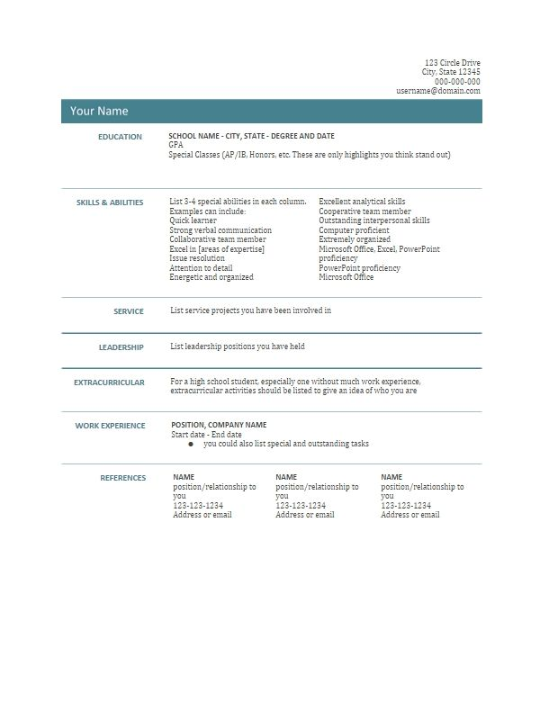 Resume Template Google Docs/google Docs Resume Templates Resume ...