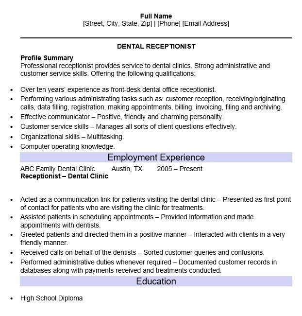 100+ [ Dental Skills Resume ]   11 Best Best Accountant Resume ...