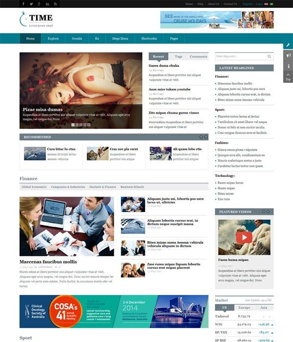 10+ Awesome Free & Premium News, Magazine Joomla 3.7 Templates 2017