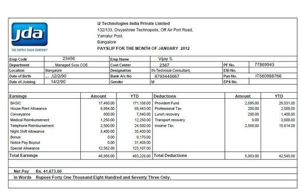 How is the income tax and PF calculated in India? For example ...