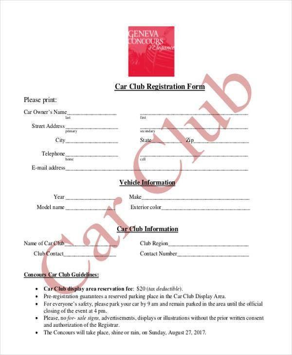 Registration Form Templates