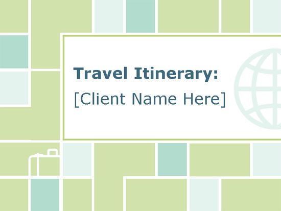 Itinerary Outline Template