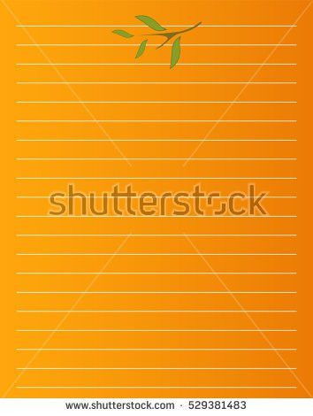 Vector Printing Paper Note Cute Paper Stock Vector 717922543 ...