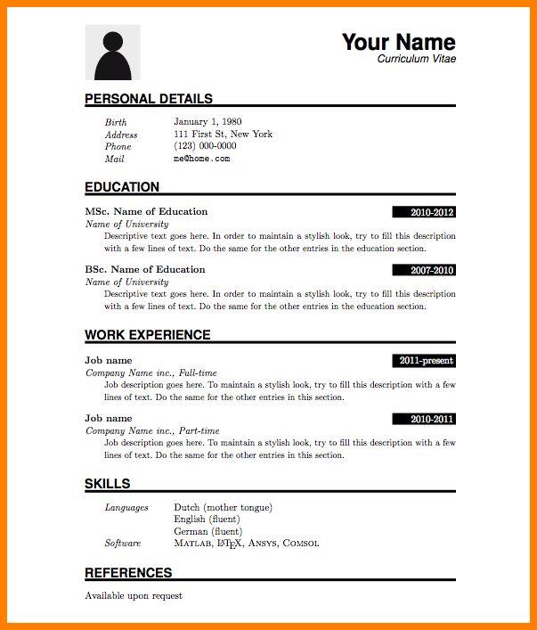 5+ job resume format download pdf | resume language