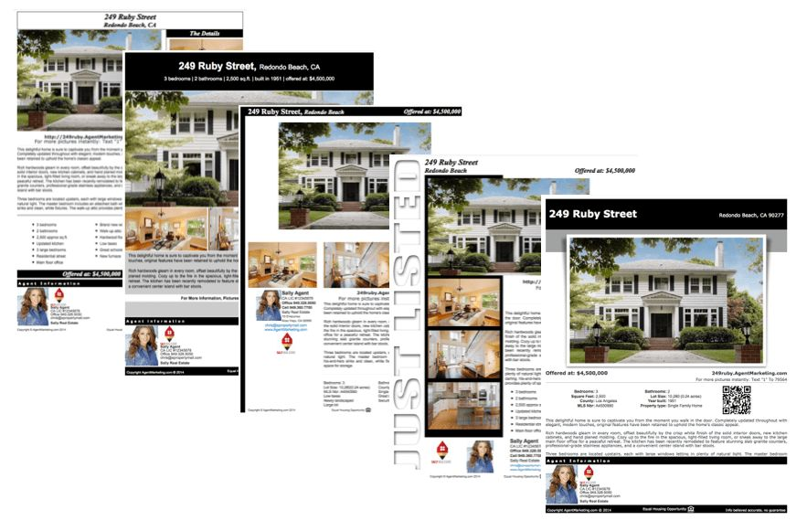 Real Estate Agent Flyer Templates
