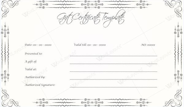 10 Gift Certificate Templates to Appear Professional