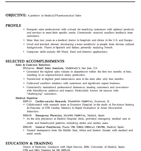 Classy Design Medical Resume Templates 15 Chronological Resume ...