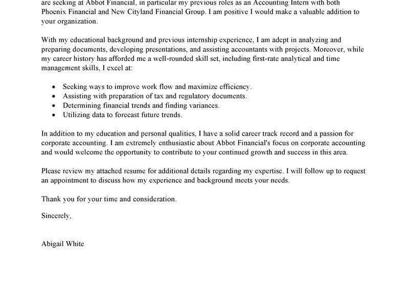 Peaceful Ideas Internship Cover Letter Example 4 Leading ...
