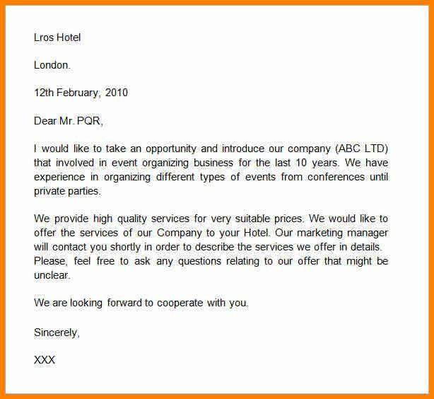 samples business introduction letters