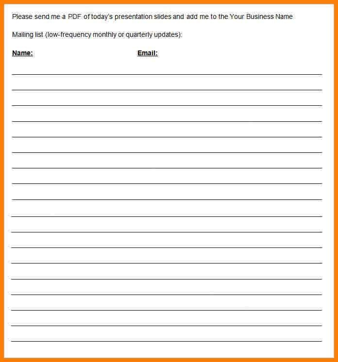 8+ sign up sheet word | cna resumed