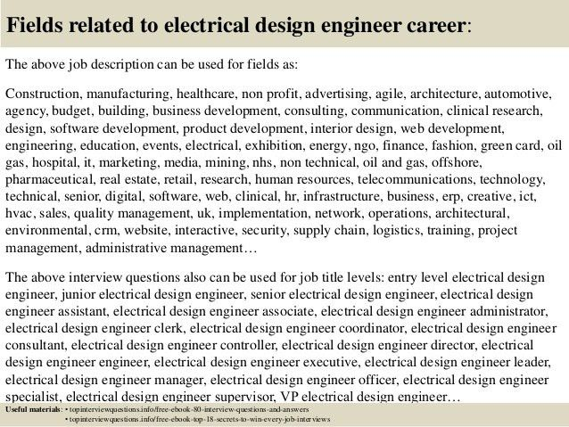 Design Engineer Job Description. Free Resume Example For ...