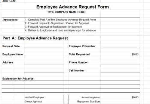 money request form template