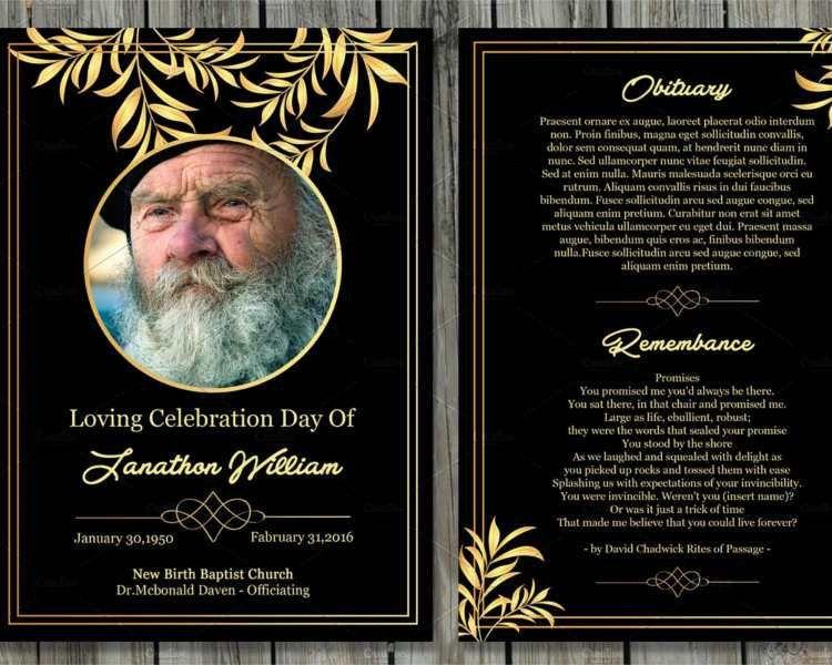 Printable Funeral Card Templates - Free Word, PDF, PSD | Creative ...