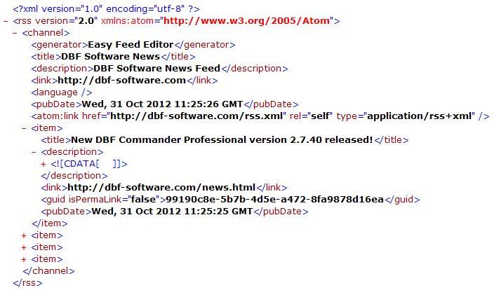 Convert XML to DBF