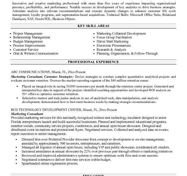 Attractive Design Consultant Resume Sample 6 Marketing - CV Resume ...
