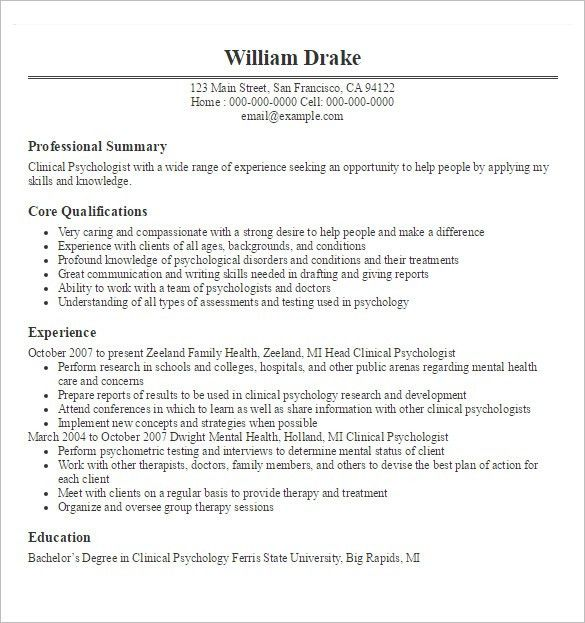 Doctor Resume Templates – 15+ Free Samples, Examples, Format ...