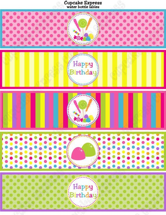 INSTANT DOWNLOAD diy Candy Shoppe Birthday Party by CupcakeExpress ...