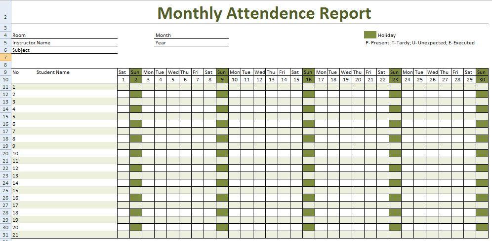 Employee Attendance Sheet Tracker | Top Form Templates | Free ...