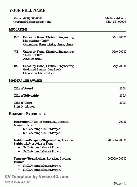 Sample Cv Resume | jennywashere.com