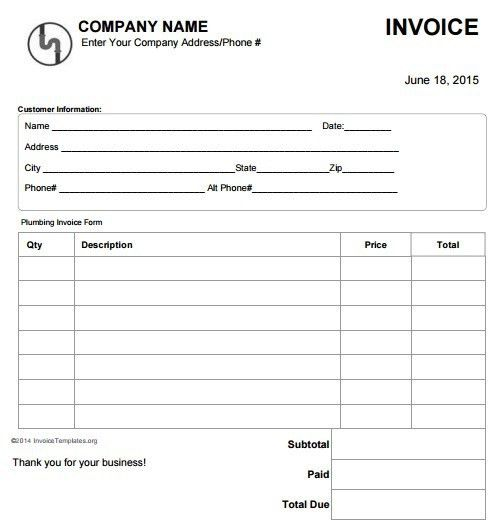 Invoice For Work Done - Resume Templates